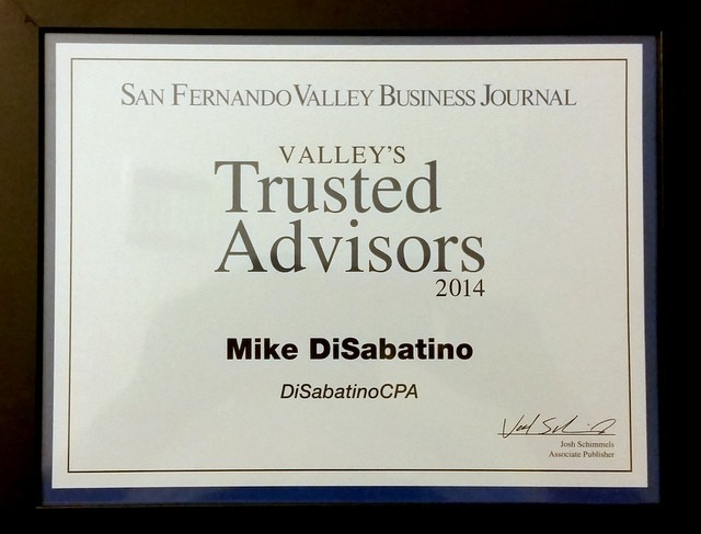 Michael DiSabatino Nominated as SFV Trusted Advisor